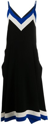 Mulberry Side Striped Slip Dress