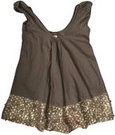 Antik Batik Khaki Glitter Dress for Women