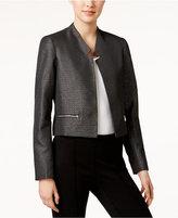 Calvin Klein Metallic Open-Front Jacket