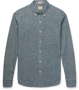 J.crew - Slim-fit Button-down Collar Cotton-chambray Shirt