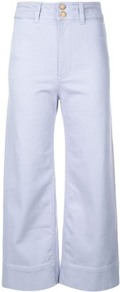 Apiece Apart cropped straight-cut trousers