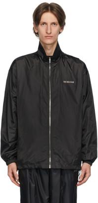we11done Black Logo Plaque Windbreaker Jacket