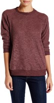 Bobeau Slub Knit Pullover Sweatshirt (Petite)