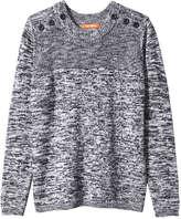 Joe Fresh Women's Button Trim Pullover, JF Midnight Blue (Size S)