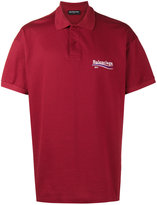 Balenciaga short sleeve logo polo shirt - men - Cotton - L