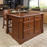 Home Styles Aspen 3-pc. Kitchen Island and Counter Stools Set