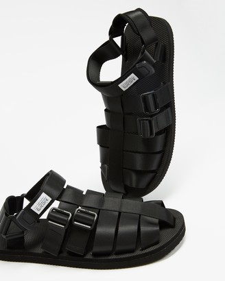 Suicoke Black Sandals - SHACO Sandals - Unisex - Size M6/W8 at The Iconic