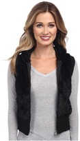 Gabriella Rocha Faux Fur Vest with Sweater Back and Vest
