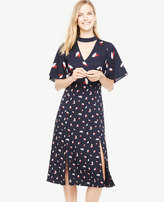 Ann Taylor Cascading Petal Choker Dress
