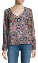 Saks Fifth Avenue Long Sleeve Printed Blouse