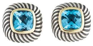 David Yurman Two-Tone Topaz Albion Stud Earrings