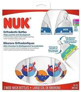 NUK Orthodontic 10-Ounce Nature Bottle - 3 Pack - Boy by