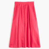 J.Crew Pleated high-waisted skirt