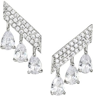 Fallon Monarch Mini Pave Bar Earrings