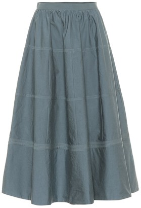 Bottega Veneta Cotton and silk midi skirt