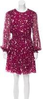 Giamba Silk Floral Print Dress