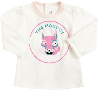 Little Marc Jacobs Mascot Print Cotton Jersey T-Shirt