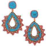 Kenneth Jay Lane Vibrant Beaded Teardrop Earrings
