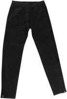 Designers Remix Anthracite Wool Trousers for Women