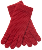 Amicale Women's Cashmere Honeycomb Gloves