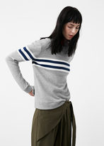 MANGO Contrast Trim Sweatshirt
