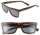 Valentino Women's Rockstud 51Mm Rectangular Sunglasses - Black/ Light Gold