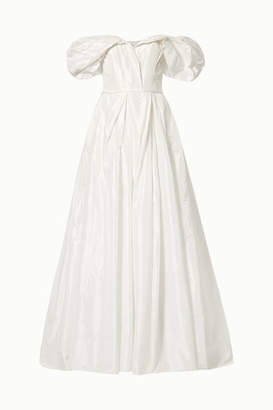 Carolina Herrera Off-the-shoulder Silk-taffeta Gown - Ivory