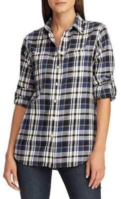 Lauren Ralph Lauren Petite Straight-Fit Plaid Cotton Twill Shirt