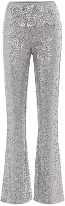 Norma Kamali High-rise flared sequined pants