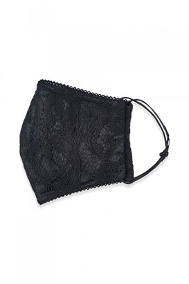 Adrianna Papell Scroll Lace Face Mask