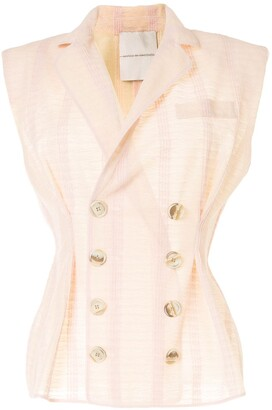 Marco De Vincenzo Double-Breasted Sleeveless Blazer