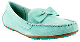 Isaac Mizrahi Live! Suede Moccasins with Bow Detail