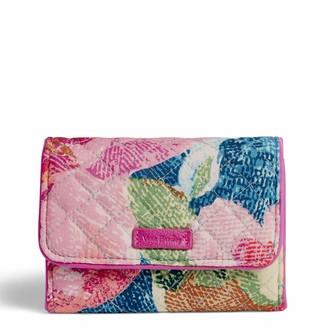 Vera Bradley Women's Iconic RFID Riley Compact Wallet Signature Cotton