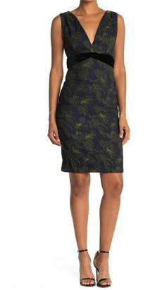 Max Studio V-Neck Sleeveless Sheath Dress