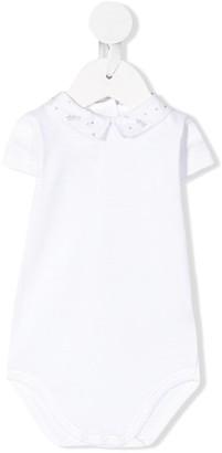 Bonpoint Embroidered Short-Sleeve Bodysuit