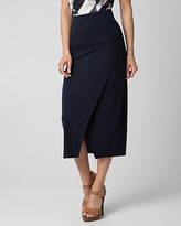 Le Château Cut & Sew Knit Asymmetrical Midi Skirt