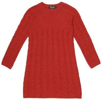 Loro Piana Kids Downy Cables cashmere dress