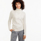 J.Crew Cambridge cable turtleneck sweater