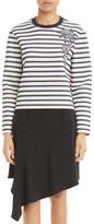 Carven Stripe Cotton Sweatshirt