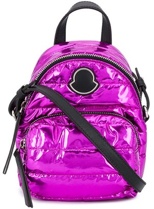 Moncler Metallic Quilted Backpack