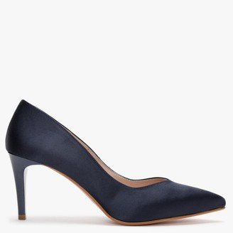 Laceys Cara New Navy Satin Court Shoes