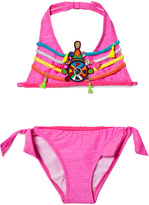 Pate De Sable Pink Hippie Beaded Halter Bikini