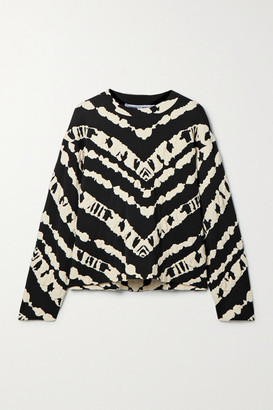 Proenza Schouler White Label Jacquard-knit Top - Black