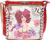 Nicole Lee White Print Cross Body Bag (Women's)