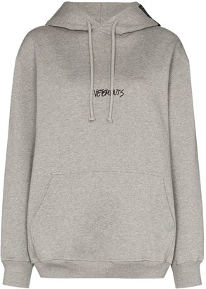 Vetements Logo-Print Long-Sleeve Hoodie