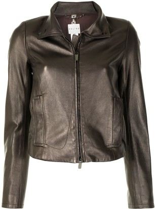 Céline Pre-Owned Pre-Owned Zip-Up Leather Jacket