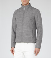 Reiss Reiss Ace - Zip-front Jacket In Grey