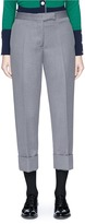 Thom Browne Wool cavalry twill cropped suiting pants