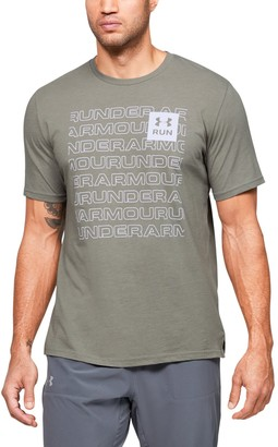 Under Armour Men's UA Run Block Logo Short Sleeve