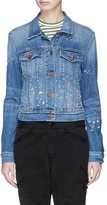 J Brand 'Harlow' paint splatter cropped denim jacket